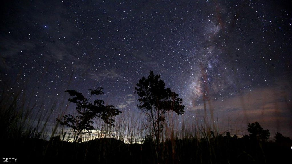 This long-exposure photograph taken on August 12, 2013 shows the Milky Way in the clear night sky near Yangon. The Perseid meteor shower occurs every year in August when the Earth passes through the debris and dust of the Swift-Tuttle comet.   AFP PHOTO / Ye Aung Thu        (Photo credit should read Ye Aung Thu/AFP/Getty Images)